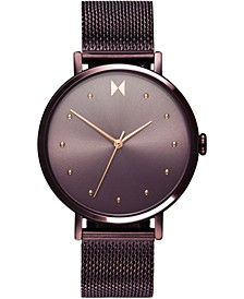 Women's Dot Vibe Purple Steel Mesh Bracelet Watch 36mm