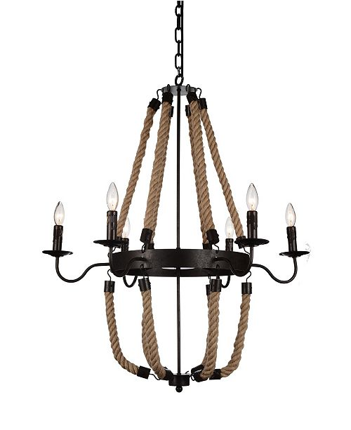 CWI Lighting CLOSEOUT! Dharla 6 Light Chandelier