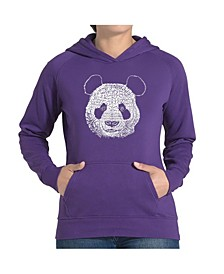 Women's Word Art Hooded Sweatshirt -Panda