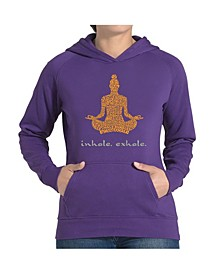 Women's Word Art Hooded Sweatshirt -Inhale Exhale