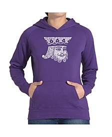 Women's Word Art Hooded Sweatshirt - King Of Spades