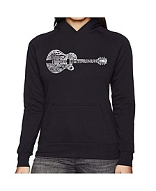 Women's Word Art Hooded Sweatshirt - Country Guitar