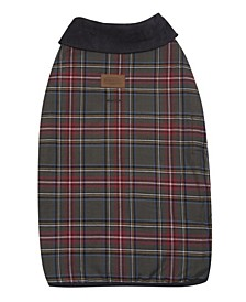 Grey Stewart Plaid Dog Coat, Large