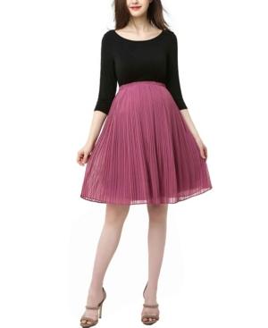 Kimi + Kai Marie Maternity Colorblock Pleat Skirt Dress