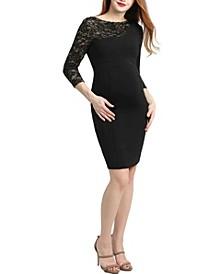 Cheyenne Maternity Lace Accent Dress