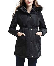 Mina Maternity Vest Convertible Parka Coat