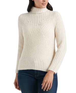 Lucky Brand Sweaters TRAVELING RIB SWEATER