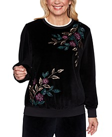 Petite Bright Idea Floral Embroidered Top