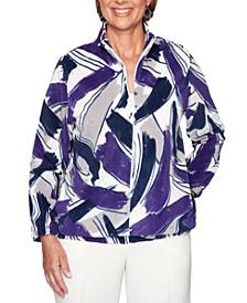 Classics Petite Printed Zippered Jacket