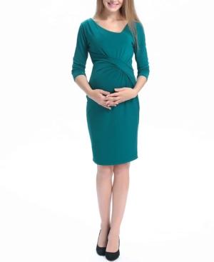 Kimi + Kai Teagan Maternity Midi Dress