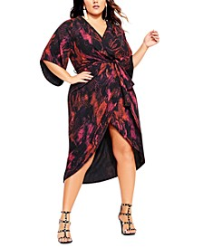 Trendy Plus Size Garnet Slither Dress
