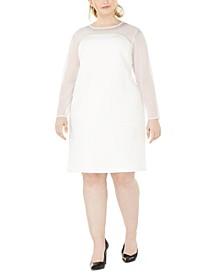 Plus Size Illusion-Detail Sheath Dress