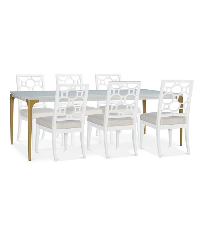 Furniture Chelsea Expandable Dining Furniture, 7-Pc. Set (Table & 6 Side Chairs)