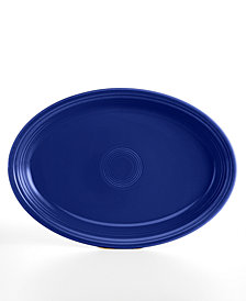 "Fiesta Cobalt 19"" Oval Serving Platter"