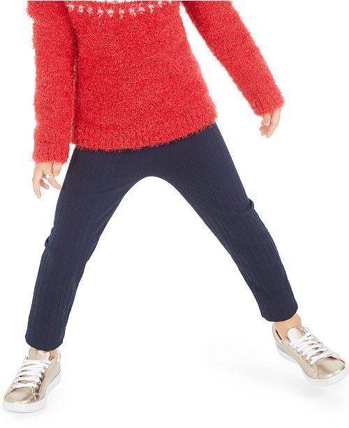 Epic Threads Toddler Girls Cable-Knit Leggings, Created For Macy's