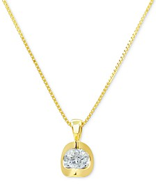 """Diamond 18"""" Pendant Necklace (1/5 ct. t.w.) in 14k White Gold or 14k Gold"""