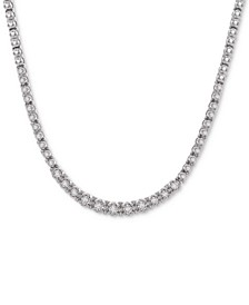 """Diamond Link (1/2 c.t. t.w.) 17"""" Statement Necklace in Sterling Silver, Created For Macy's"""