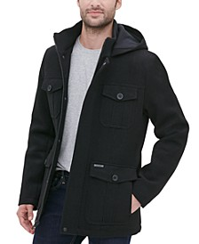 Men's Four Pocket Three-Quarter Length Coat