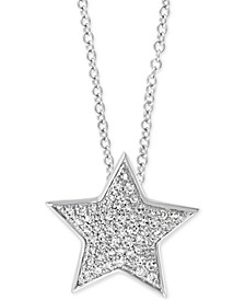 "EFFY® Diamond Star 18"" Pendant Necklace (1/4 ct. t.w.) in 14k White Gold"