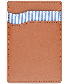 Men's Striped Adhesive Card Case