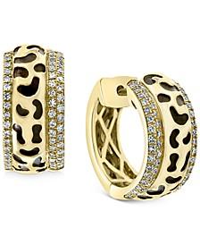 """EFFY® Diamond Animal Pattern Small Hoop Earrings (1/3 ct. t.w.) i 14k Gold, 0.53"""""""