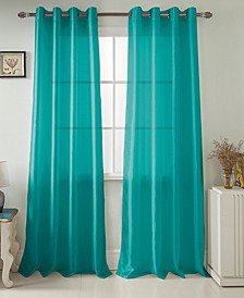"Nancy 54"" x 84"" Faux Silk Curtain Panel"