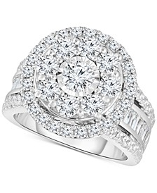 Diamond Cluster Bridal Collection in 10k White Gold