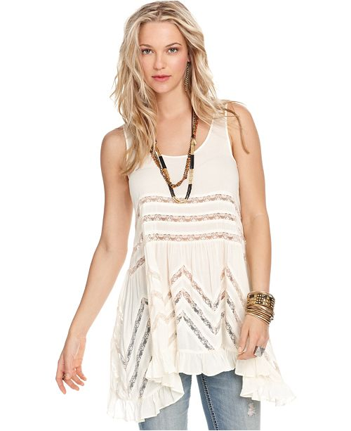 597132d81f19 Free People Sleeveless Printed Trapeze Dress & Reviews - Dresses ...