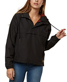 Juniors' Darby Hooded Fleece-Lined Jacket
