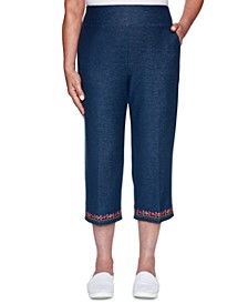 Road Trip Stretch Denim Capri Pants