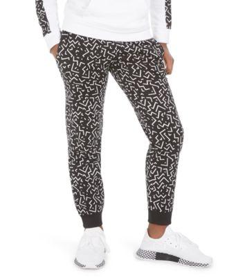 Big Girls Printed Fleece Jogger Pants, Created For Macy's