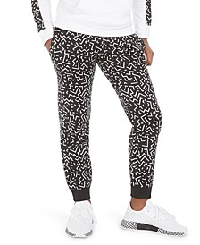 Big Girls Printed Fleece Jogger Pants, Created For Macy's