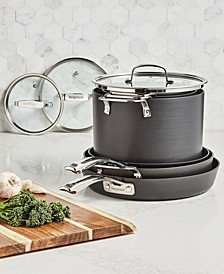 Stackable 10-Pc. Nonstick Aluminum Cookware Set