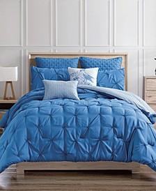 Olympia 7-Piece Reversible Queen Comforter Set