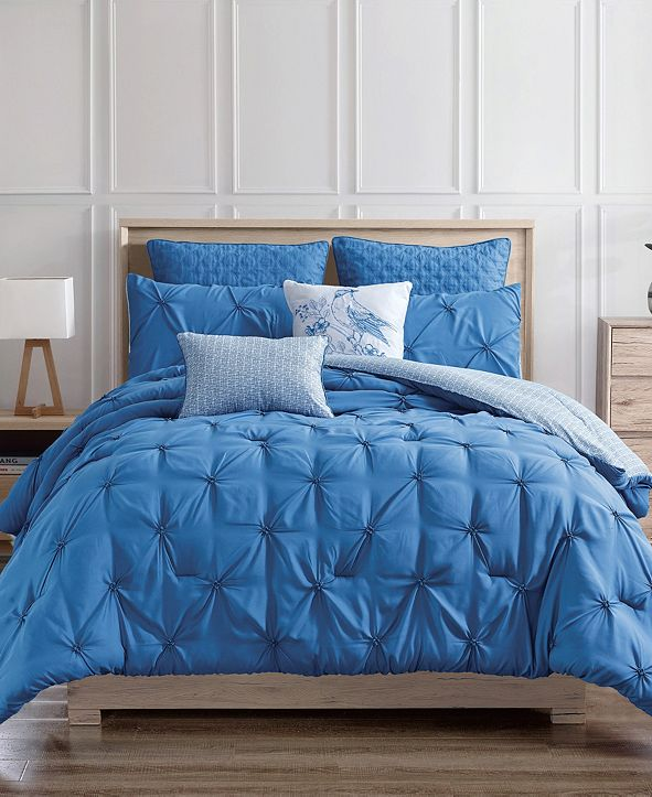Olivia Gray Olympia 7-Piece Reversible Queen Comforter Set