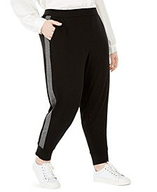 Plus Size Slouchy Track Pants