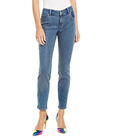INC Petite Embellished-Front Skinny Jeans, Created For Macy's