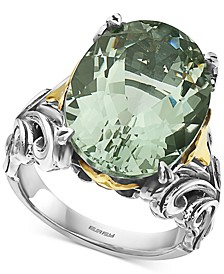 EFFY® Green Amethyst Statement Ring (13 ct. t.w.) in Sterling Silver & 18k Gold