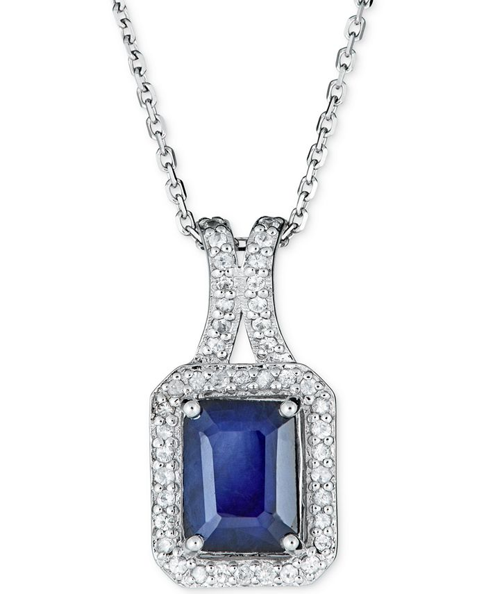 """Macy's - Certified Ruby (1-1/2 ct. t.w.) & White Sapphire (1/5 ct. t.w.) 18"""" Pendant Necklace in 14k Rose Gold (Also in Sapphire & Emerald)"""