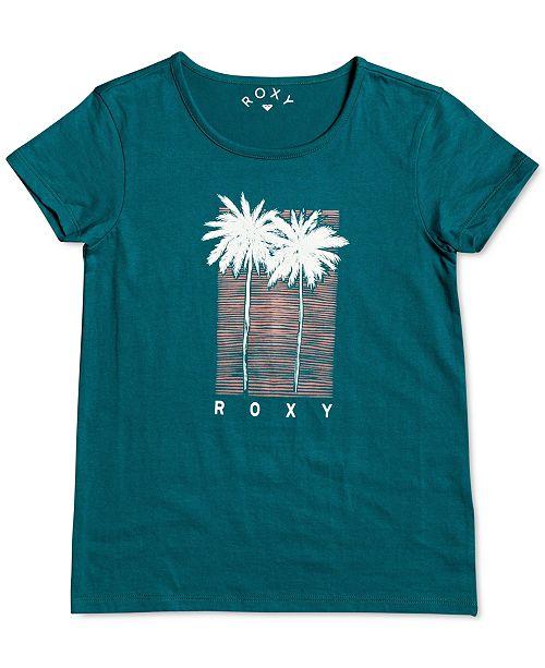 Roxy Big Girls Palm Tree-Print Cotton T-Shirt