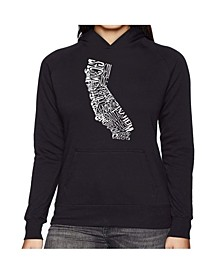 Women's Word Art Hooded Sweatshirt -California State