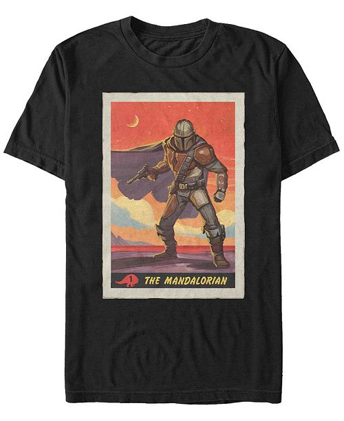 Star Wars Men's Mandalorian Boba Fett Poster T-shirt