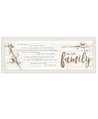 """We are Family by Marla Rae, Ready to hang Framed print, White Frame, 39"""" x 15"""""""