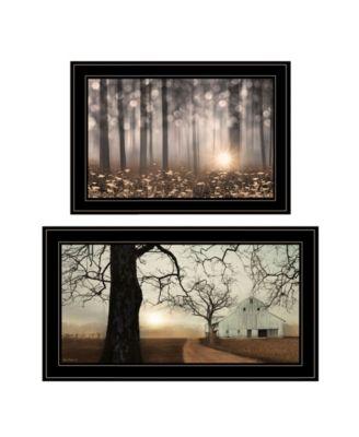 "Enchanted Sunrise 2-Piece Vignette by Lori Deiter, Black Frame, 27"" x 15"""