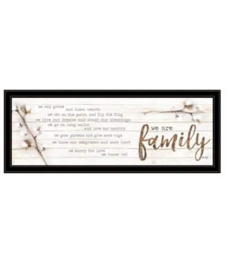 """We are Family by Marla Rae, Ready to hang Framed Print, Black Frame, 39"""" x 15"""""""