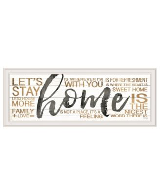 """Home by Marla Rae, Ready to hang Framed print, White Frame, 39"""" x 15"""""""