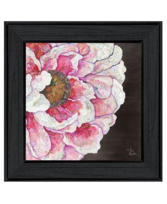 "Blooms on Black I by Lisa Morales, Ready to hang Framed Print, Black Frame, 15"" x 15"""