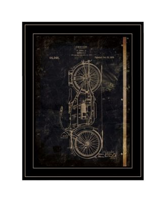 """Motor Bike Patent I by Cloverfield Co, Ready to hang Framed Print, Black Frame, 15"""" x 19"""""""