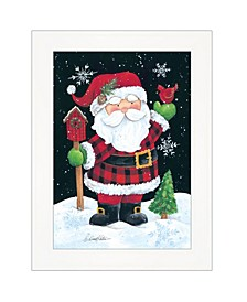 """Santa by Diane Kater, Ready to hang Framed Print, White Frame with Iron Easel, 11"""" x 16"""""""