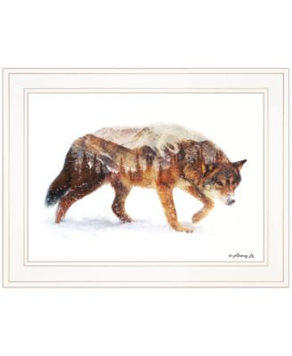 """Arctic Wolf by andreas Lie, Ready to hang Framed Print, White Frame, 19"""" x 15"""""""